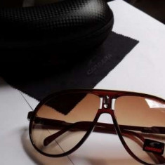 Ochelari Carrera Champion Maro - Ochelari de soare Carrera, Unisex, Plastic, Ovali, Protectie UV 100%