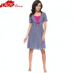 Camasa de Noapte Gravide/Alaptat, Model Happy Life, Brand DN Nightwear, Cod 1060 - Pijamale gravide