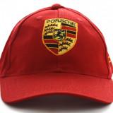 Sapca Porsche rosie - Sapca Barbati, Marime: Marime universala, Culoare: Rosu