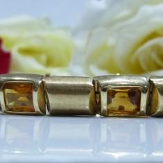 Bratara aur 14k cu citrine, Culoare Aur: Galben
