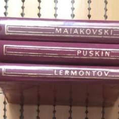 Maiakovski * Puskin * Lermontov * VERSURI 3 volume veline - Carte poezie