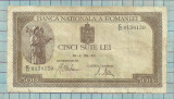 Bancnota 500 lei 1943 seria C/11...139-CEA MAI RARA