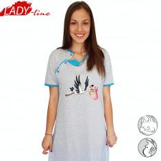 Camasa de Noapte Gravide si Alaptat, Model Happy Baby, Brand Semm Mix, Cod 1294 - Pijamale gravide