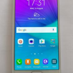 Telefon Mobil Samsung Galaxy Note 4 N9100 Dual SIM 4G White, cu garantie, Alb, Neblocat