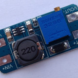 MT3608, DC-DC converter step-up, IN:2.0-24V, OUT:2.1-28V, (2A max)