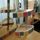 Set oglinda baie si accesorii personalizate