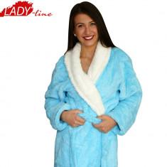 Halat Dama Pufos si Moale, Brand Baki Collection, Cod 568, Culoare: Albastru, Marime: XL, XXL