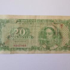Romania 20 Lei 1950 - bancnota europa