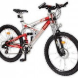 Bicicleta Mountain Bike disc full suspension DHS 2848 21V Mountec