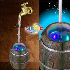Robinet de apa in forma de butoi cu led-uri multicolore