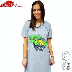 Camasa de Noapte Gravide si Alaptat, Model Cutes Turtles, Semm Mix, Cod 1202 - Pijamale gravide