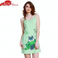 Camasa de Noapte cu Bretele, Model Kiss Me, Brand Vienetta Secret, Cod 1316, Marime: S, L, XL, Culoare: Verde