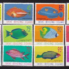 Cocos 1996/97 fauna marina MI 350-53/357-61/367-69 MNH w45 - Timbre straine, Nestampilat