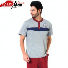 Pijama Barbati Maneca Scurta/Pantalon 3/4, Model Academy Division, Cod 1289