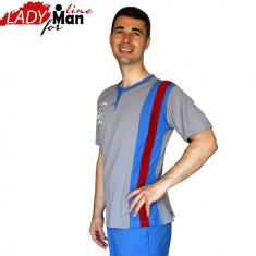 Pijama Barbati Maneca/Pantalon Scurt, Model Sailor, Brand Baki, Cod 428