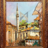 TABLOU, GRIGORE STAN, BALCIC - VEDERE CU GEAMIE, U/P, 2017 - Pictor roman