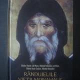 SF. VASILE CEL MARE, SF. PAHOMIE CEL MARE - RANDUIELILE VIETII MONAHALE {2005} - Carti ortodoxe