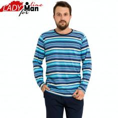Pijama Barbati Maneca/Pantalon Lung, Model Basic Equilibrium, Vienetta, Cod 1004