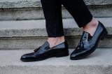 Pantofi Exclusive Loafer COD: TOP-2. NEW COLLECTION, 38, 39, Negru, Piele naturala