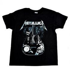 Tricou 180 gr. Metallica - Guitar - Model 2, Marime: S, M, XL, XXL