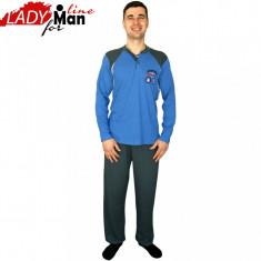 Pijama Barbati Maneca/Pantalon Lung, Model Oceanic Shipbuilders, Cod 272