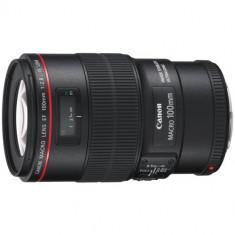 Obiectiv foto DSLR Canon EF 100mm f/2.8 IS USM MACRO - Obiectiv DSLR