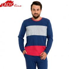 Pijama Barbati Maneca/Pantalon Lung, Model Beauty Simplicity, Cod 707 - Pijamale barbati, Marime: S, Culoare: Din imagine