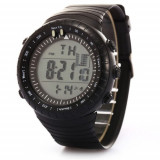 Ceas barbatesc  Quartz digital  cu data alarma cronometru waterproof 50M inot, Lux - sport, Inox