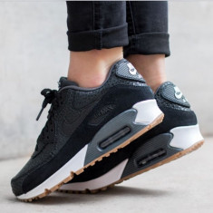 Adidasi Originali Nike Air Max 90 Premium, Autentici, Noi, Marime 40 - Adidasi dama Nike, Culoare: Din imagine, Piele naturala