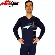 Pijama Barbati Maneca/Pantalon Lung, Model I'm Fast, Brand Baki, Cod 956
