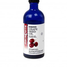 Ulei de samburi de struguri rosii cu vitamina E+C+F 100 ml, Macrovita