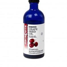 Ulei de samburi de struguri rosii cu vitamina E+C+F 100 ml Macrovita