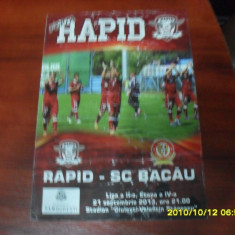 Program Rapid - SC Bacau - Program meci