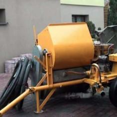 Pompa de tencuit traditional Putzmeister P 13 DMR, Germania, motor diesel - Masina de tencuit