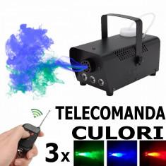MASINA FUM CU LEDURI + TELECOMANDA - Masina de fum