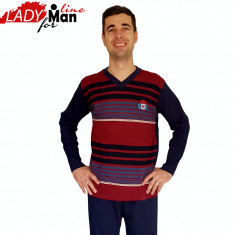 Pijama Barbati Maneca/Pantalon Lung, Model Royal Steady, Cod 770 - Pijamale barbati, Marime: S, Culoare: Din imagine