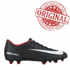 Ghete fotbal Nike Mercurial Vortex III FG COD: 831969-002 - Produs original, Marime: 42.5, 43, Culoare: Negru, Barbati, Iarba: 1
