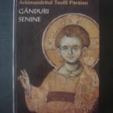 ARHIMANDRITUL TEOFIL PARAIAN - GANDURI SENINE - Carti ortodoxe