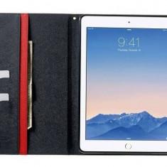 Husa tip carte Mercury Goospery Fancy Diary rosu + bleumarin pentru Apple iPad Air 2 - Husa Tableta
