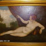 Tablou nud scoala maghiara originala - Pictor strain, Ulei, Impresionism
