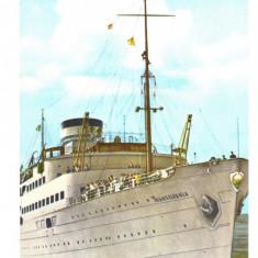 CP Motonava Transilvania la iesirea din portul Constanta, RPR, necirculata
