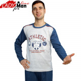 Pijamale Barbati Maneca/Pantalon Lung, Model Athletic, Brand Baki, Cod 341, Marime: S, Culoare: Din imagine