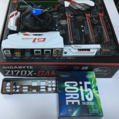 KIT Placa de baza GIGABYTE Z170x Gaming 7 + Intel KabyLake i5 7600K + 16GB DDR4, Pentru INTEL, LGA1151, Contine procesor, Extended ATX