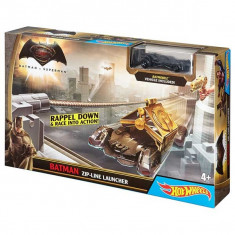 Jucarie Pista Hot Wheels ZP Line Lansator Tiroliana Batman DPL88 Mattel