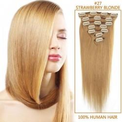 Extensii 100% par natural blond miere 27# foto mare