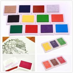 Set de 12 tampoane colorate pentru tusiere, Toullgo