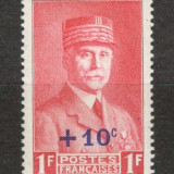 Franta.1941 Maresal Petain-supr. XF.119, Nestampilat