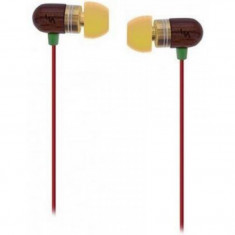 Casti audio T'nB Jamaica Wood, 3.5 mm Jack, Intraauriculare, Maro - Casca PC Tnb