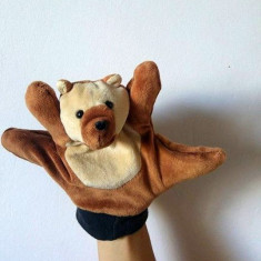 Marioneta teatru de papusi, papusa manuala tip manusa pe degete, urs, ursulet - Jucarii plus