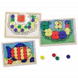 Mozaic din Lemn cu Culori - Jocuri Logica si inteligenta